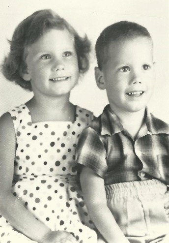 Mom & Uncle Doug as kids